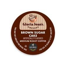 8 K-cup Gloria Jean's Brown Sugar Cake Sampler - NEW Delicious Flavor!