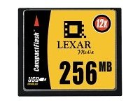 Lexar Media CF256-12-253 Canada Only 256MB 12X Compactflash Cf Card
