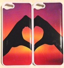 Heart Rainbow Matching BFF Bestfriend Boyfriend Girlfriend iPhone 5 White Plastic Case