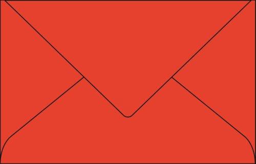 Pollen Paquet de 20 enveloppes Pollen 90x140mm FT30 Rouge Corail 120g