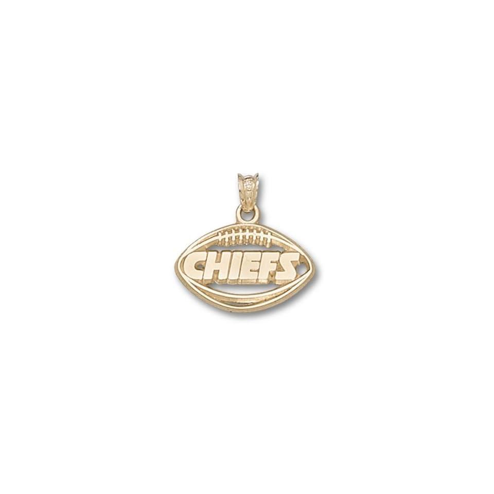 Kansas City Chiefs NFL Pierced Football Pendant (14kt)