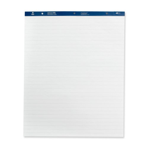 Business Source 36586 Easel Pad, Ruled, 50 Sheets, 27 in.x34 in., 4/CT, White