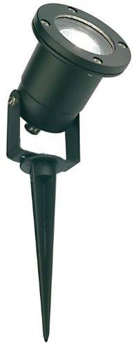 Faretto per esterno giardino con piccheto lampada in alluminio IP54 GU10
