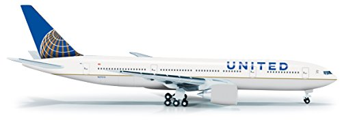 Daron Herpa United 777-200 Post Co Merger Livery Diecast Aircraft, 1:500 Scale (United Airlines Model compare prices)