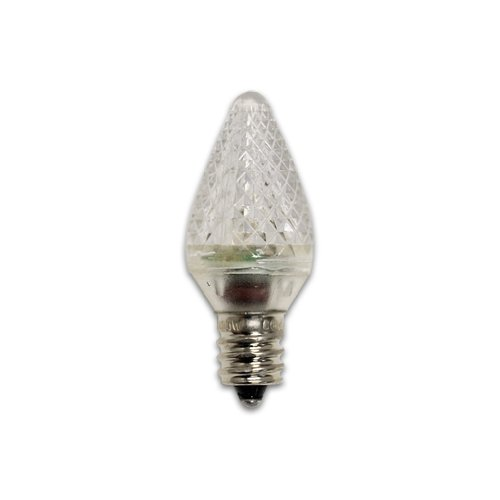 Bulbrite 860172 Led/C7C 0.35-Watt Led C7 Replacement Bulb Candelabra Base, Clear, 25-Pack