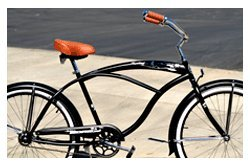 Steel Frame, Micargi Huntington Men - Matte Black, 1-speed Beach Cruiser Bike Bicycle Schwinn Nirve Firmstrong Style