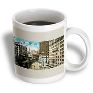 Bln Vintage New York City Collection - Greeley Square And Broadway New York City Street Scene - 15Oz Mug (Mug_170845_2)