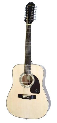 Epiphone Dr-212 Acoustic Guitar, 12-String, Natural