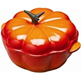 Le Creuset Enameled Cast-Iron 2-1/4-Quart Pumpkin Casserole (Flame)