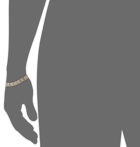 Mens-14k-Gold-Two-Tone-94mm-Bracelet-825