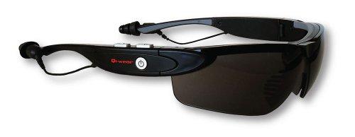 Qmadix Qi-wear Stereo Bluetooth Eyeware - Bluetooth Headset - Retail Packaging - Black Qmadix Bluetooth Headsets autotags B0055FF6EU