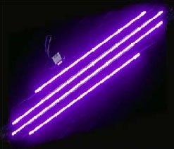 Purple Neon Undercar Glow Kit Optional Remote 4Pc Truck