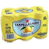 San Pellegrino Sparkling, Limonata Cans 330 ml 6-Count (Pack of 4)