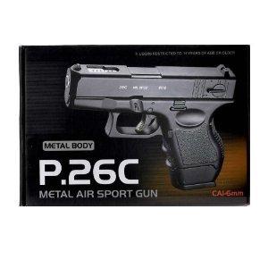 p26c full metal glock airsoft 2000 free pellets from Bulldog