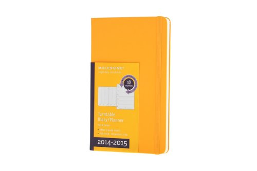 Moleskine 2014-2015 Turntable Weekly Planner, 18M, Large, Orange Yellow, Hard Cover (5 x 8.25) (Moleskine Diaries) (Moleskine Planner Turntable 2015 compare prices)
