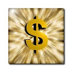 Dollar Sign Counter Top or Backsplash Tiles, Seekyt