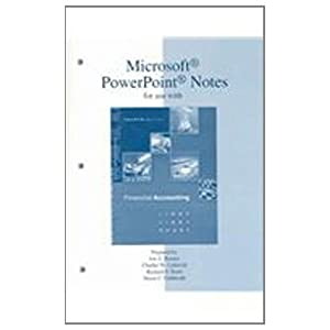 Microsoft PowerPoint Notes t/a Financial Accounting (9780072473650