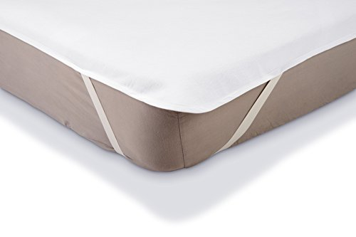 AmazonBasics - Protector de colchón de moletón impermeable 140 x 200 cm