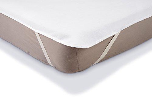 AmazonBasics Matratzenschoner, wasserdicht, Molton, 140 x 200 cm weiß