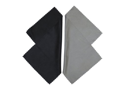 Microfiber Cleaning Cloth For Electronic Needs Such As: Lcd, Tv & Laptop Screens, Camera Lenses, Tablets, Cell Phones (Iphone, Samsung, Blackberry),Binoculars, Telescopes, Glasses, Jewelry, And Other Delicate Surfaces. Perfectly Sized & Compact 2 Pcs, Bla