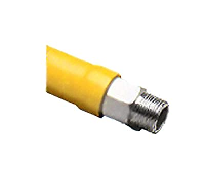T&S Brass HG-2D-72 Gas Hose with Free Spin Fittings, 3/4-Inch Npt and 72-Inch Long