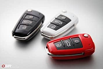 Gloss Red Remote Key Protection Cover for Audi A1, A3, B7 A4, MK2 TT,