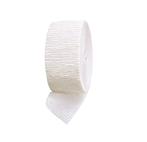 "Mylife (Tm) Neon White - Crepe Paper Roll Streamer ""Decoration And Craft Supply"" 81 Feet / 24.7 Meters (Wonderful For House Warming Parties) front-340391"