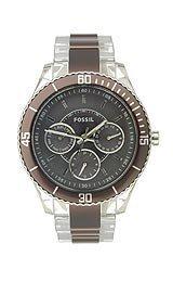 Fossil ES2801 - Reloj para mujeres, correa de plástico
