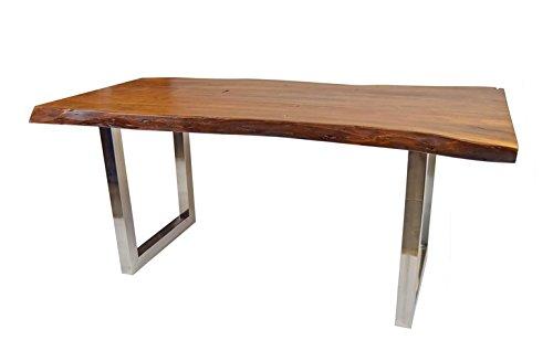 Esstisch-Baumkante-190-x-95-Authentic-Akazie-Massiv-6-cm-Stark-Esszimmertisch-Massivholz-Nature-Line