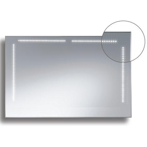 Badspiegel BELEUCHTET Wandspiegel BELEUCHTUNG Spiegel LICHT Badwandspiegel aus Kristall YJ-692k