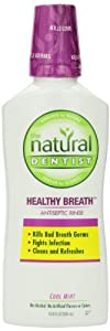 The Natural Dentist Healthy Breath Antiseptic Rinse, Cool Mint, 16.9 Ounce