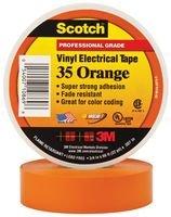 3M - 35-Orange-1/2 - Tape, Insulation, Pvc, Orange 0.5Inx20Ft