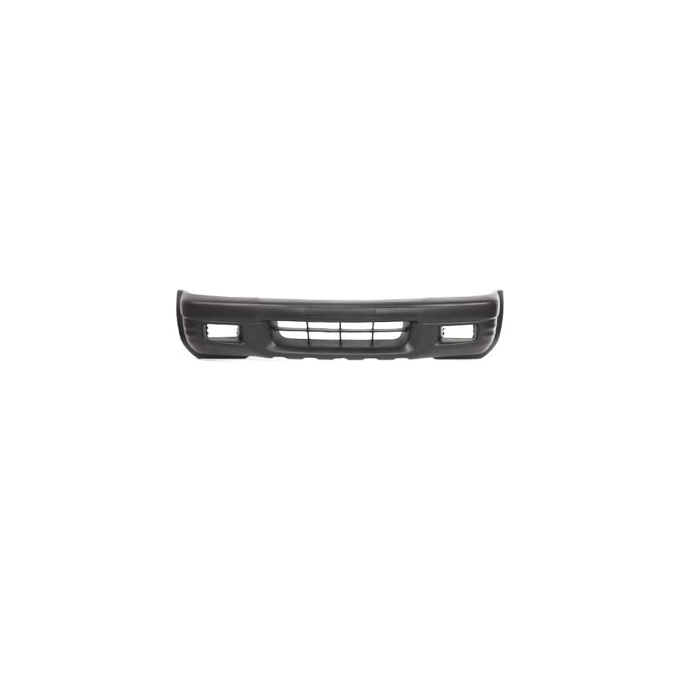 CarPartsDepot, Front Bumper Cover Plastic Textured Black With Fog Holes, 352 24389 10 IZ1000206 8971381126