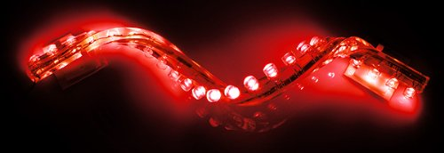 Red 12 Led Strip Neon Motorcycle / Car / Boat / Home / Pod Light Bright Accent Glow 9Led Flexible Water Proof, Aquarium Light Under Water Proof Tank