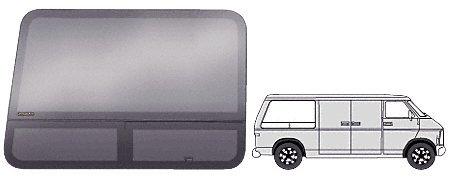 "Crl T-Vent ""All Glass Look"" Window - Passenger Side Rear 1978 - 2003 Dodge Van 42-3/4"" X 29-1/4"""