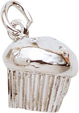 Rembrandt Charms Muffin Charm, Sterling Silver