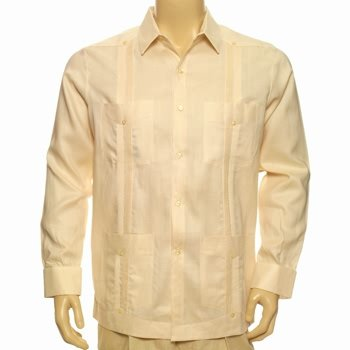 100% linen guayabera shirt french cuffs