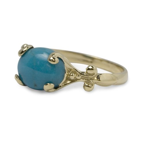 Sleeping Beauty Turquoise 14k Gold Ring
