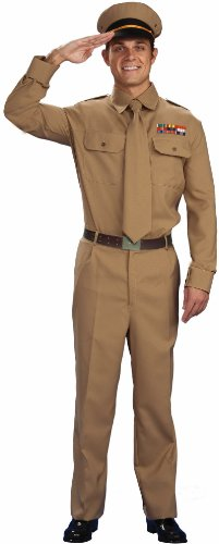 [1940s WWII Military Officer Army General Costume Adult Standard Large 42] (Army Men Halloween Costumes)