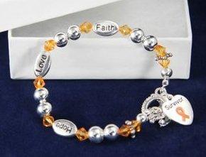 Orange Ribbon Bracelet-Survivor (18 Bracelets)