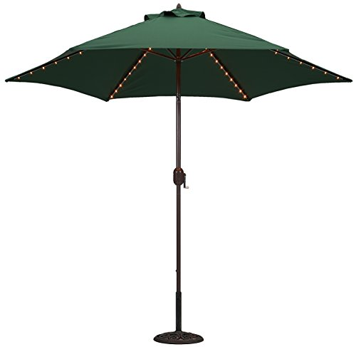 Led Umbrella Amazon: Tropishade Tropilight With LED Lighted 9 Ft Bronze