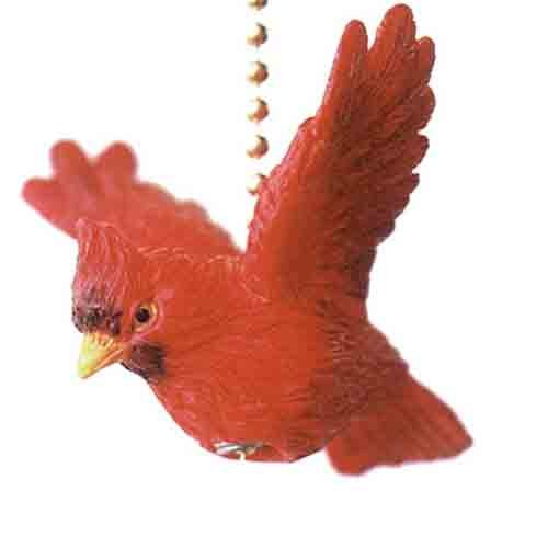 Virginia Red Cardinal Bird Ceiling Fan Light Pull at Amazon.com