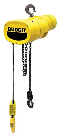 Budgit Hoist Manguard BEHC0216 Electric Chain Hoist, Three Phase, Hook Mount
