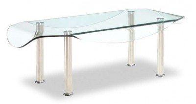 Drop Leaf Glass Coffee Table