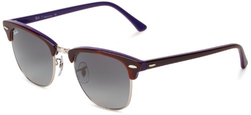 Ray-Ban Clubmaster 112871 Square Sunglasses,Top Shiny Havana & Violet,51 mm
