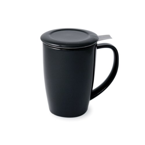 Review Of FORLIFE Tall 15-Ounce Tea Mug with Infuser and Lid and Lid, Black Graphite