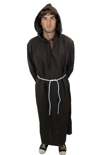 Kostüm Herren Herrenkostüm Mönch Priester Mönchskutte Klosterbruder L022, M