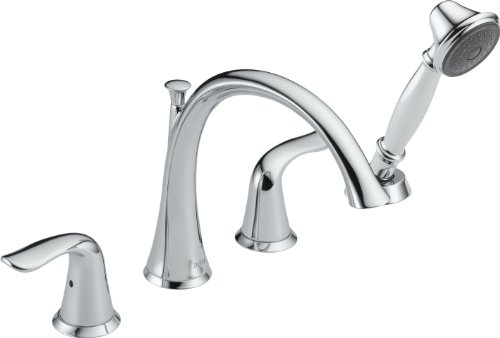 Delta T4738 Lahara Roman Tub with Handshower Trim, Chrome (Roman Tub Faucet Chrome compare prices)
