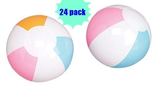 """6"""" Beach Ball Assortment (Package of 24) pastel beachballs"""
