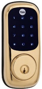 Yale Security Yrd220-Zw-605 Real Living Electronic Touch Screen Deadbolt, Fully Motorized With Z-Wave Technology, Polished Brass . Z-Wave Module Included In Lock!